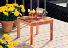 Patio End Table Plans Free by Free Patio Table Woodworking Plans From Shopsmith