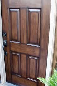 how to paint your metal front door to look like wood build it