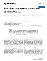 second edition of u0027the bethesda system for reporting cervical