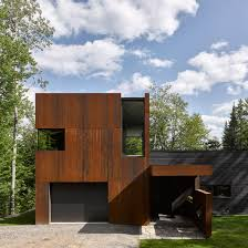 Home Architecture And Design by Weathering Steel Architecture And Design Dezeen
