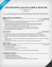 Sales Resume Skills Examples by Advertising Sales Resume Sample Resumecompanion Com Resume