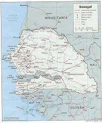 africa map senegal studies center senegal page
