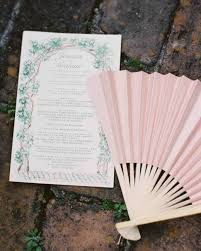 Hand Fan Wedding Programs 7 Easy Ways To Personalize Your Program Martha Stewart Weddings