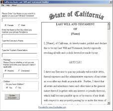 sample california will sample california last will and testament