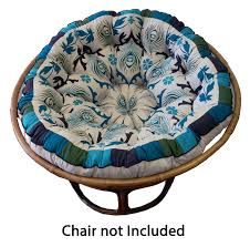Peacock Colour Cushions Decorating Charming Papasan Chair With Pretty Papasan Chair