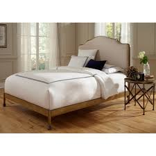 Metal Headboard Bed Frame Calvados California King Bed With Metal Headboard And Sand Colored