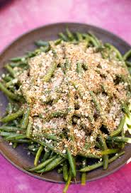 recipe lemony green beans with almond breadcrumbs kitchn