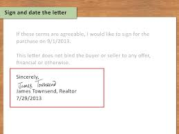 Job Offer Letter Legally Binding by 3 Ways To Write A Letter Of Interest For A House Wikihow