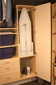 ironing board closet cabinet laundry room or custom closet ironing board storage