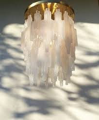 Vintage Glass Chandelier A Very Nice Vintage Modernist Murano Mazzega Icicle Glass
