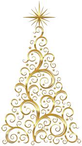 gold christmas ornament clipart u2013 happy holidays
