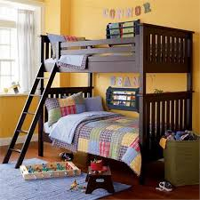 Espresso Twin Simple Bunk Bed From The Land Of Nod - Land of nod bunk beds