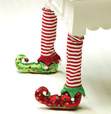amazon com elf stockings and slippers christmas chair leg covers