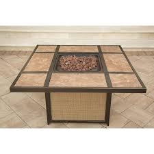 Rectangle Fire Pit Table Summer Nights 5 Piece Fire Pit Set With Tile Top Fire Pit