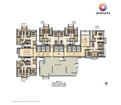 West Wing Floor Plan Floor Plans Dheeraj Oneness Borivali