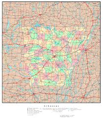 Large Map Of United States by Large Detailed Administrative Map Of Arkansas State With Roads