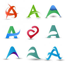 abstract letters logo design elements with modern style vectors