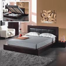 platform bed with headboard storage bed u2013 home improvement 2017