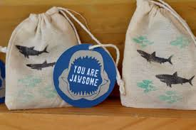 favor bags simple shark themed favor bags everyday party magazine