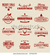 christmas signs set vintage christmas signs emblems vector stock vector 337524755