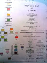 The Map Of Mexico by From The Map Vault Of Williams U0026 Heintz Map Corp Tectonic Map Of