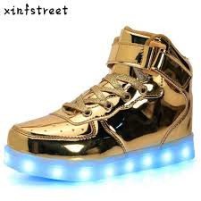 light up shoes for girls usb charger tenis led shoes kids basket high top luminous sneakers