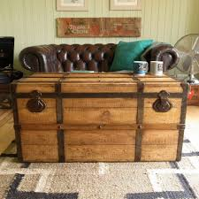 coffee table chest with lock hope wooden trunk coffee table
