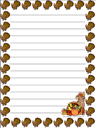 thanksgiving writing paper printable printable paper