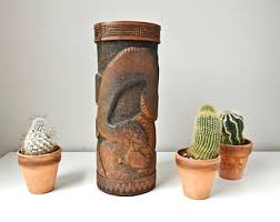 asian cactus ring holder images Antique bamboo vase japanese brush pot 12 39 bamboo vase jpg