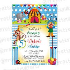 circus theme invitations circus invites