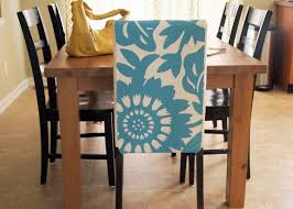 adorable blue white fl dining room chair cover