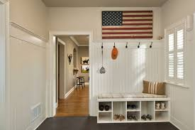 entryway shoe bench with wainscoting entry traditional and wooden