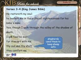 Thy Rod And Thy Staff Comfort Me Psalm 23 Psalm 23 1 4 Route B English Age Ppt Download