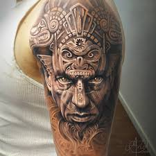 aztec warrior portrait u0026 animal carvings best tattoo design ideas