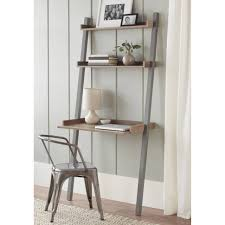 Ladder Office Desk Furniture Bookcase Design Small Leaning Desk Slanted Bookshelf