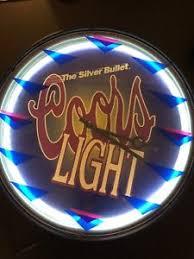vintage coors light neon sign vintage coors light neon clock sign ebay