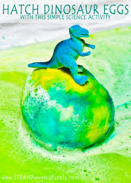 simple fun chemistry hatch baking soda dinosaur eggs