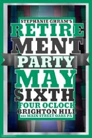 customizable design templates for retirement party postermywall