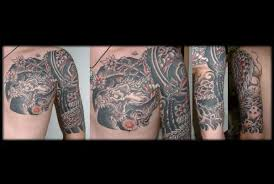 japanese half sleeve chest plate japanese