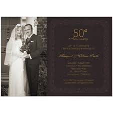 Golden Wedding Invitation Cards Anniversary Invitations Personalize Now