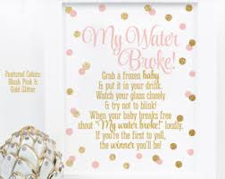 my water baby shower my water baby shower cube blush pink silver