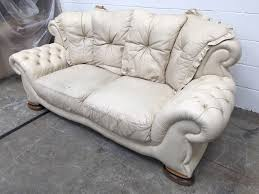 sofas chesterfield style original vintage cream leather chesterfield style pendragon sofa