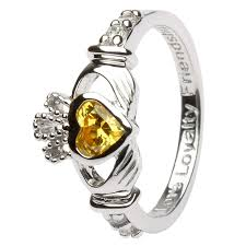 november birthstone ladies birthstone silver claddagh ring ls sl90 11