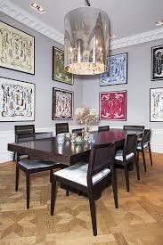 dining room framed art emilia de poret s home frame hermés scarfs art picture hanging