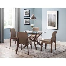 Round Glass Table And Chairs Dining Room Glass Table With 4 Toulouse Chairs For Incredible Home