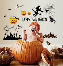 halloween pumpkin u0026 witch wall decal halloween wall stickers decal