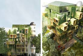 energy efficient design inhabitat green design innovation parasitic wooden cubes slash parisian building s energy consumption by 75