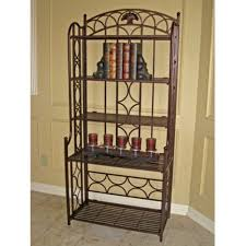 Wood Bakers Racks Furniture Tips Decorative Outdoor Bakers Rack For Indoor And Outdoor Use