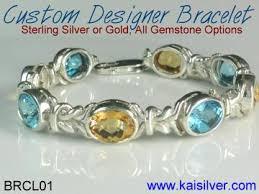 custom silver bracelets custom bracelet high end custom made gemstone bracelets in