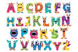 monster alphabet clipart abc letters design bundles